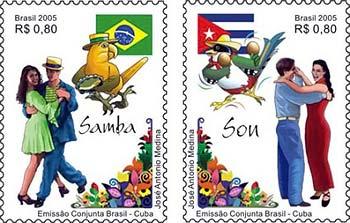 Emissão Conjunta Brasil e Cuba: Samba e SonTexto do edital de autoria de Marco Antonio Perna:SonO Son, ritmo que se originou nas comunidades rurais da região...