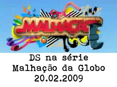 Hoje vi passando na série/novela Malhação da TV Globo, um concurso de dança de salão. Não sei há quantos dias tem passado o tema na série, e me lembro que já houve uma professora...