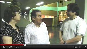 Marco Antonio Perna entrevista Mário Jorge na abertura da Exposição 200 anos de Dança de Salão, no Centro Cultural Calouste, no Rio de Janeiro, em 01 de julho de 2011...