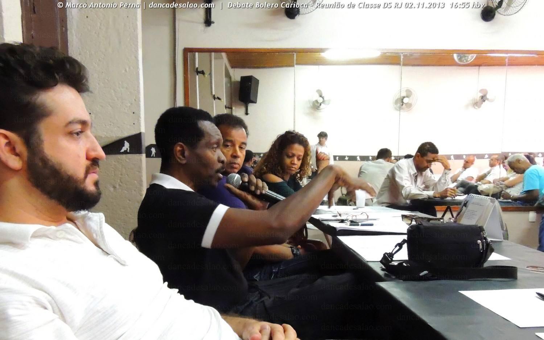 Reunião de Classe da Dança de Salão do RJ no Studio Marcello Moragas em 02.11.2013 - Debate sobre Bolero Carioca