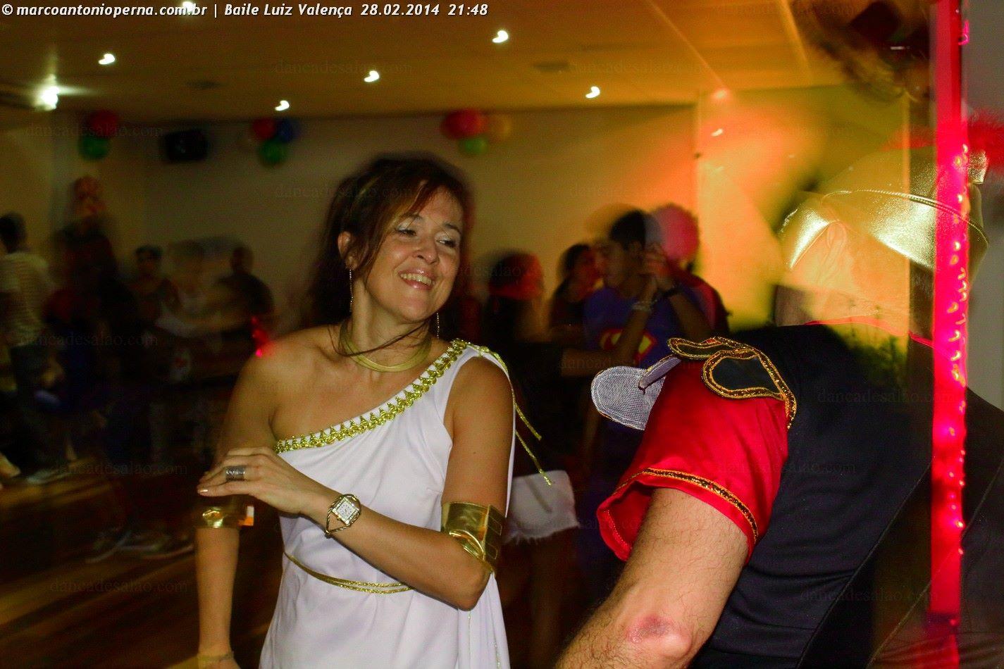 Baile na academia Dança de Salão Luiz Valença - Tijuca - Rio de Janeiro - RJ - 28.02.2014.