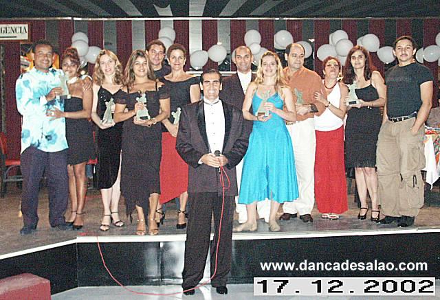 1º Baile de Confraternização das Academias de Dança de Salão da Zona Sul e Convidados 17/12/2002 - Terça-feira - Horário: 20:00 à 01:00. Ingresso: R$ 60,00 MESA (Todas as Mesas com 04 lugares) ou R$ 20,00 INDIVIDUAL. Este evento é um grande passo para futuras conquistas como a re-criação da ADASA/RJ – Associação dos Profissionais de Dança de Salão do Estado do Rio de Janeiro e principalmente a união entre as co-irmãs. Organização: Academia de Dança Toni Sá.