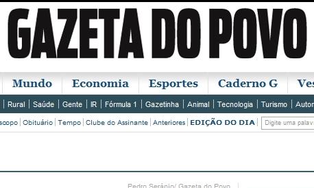 jornal Gazeta do Povo - Curitiba - PR...