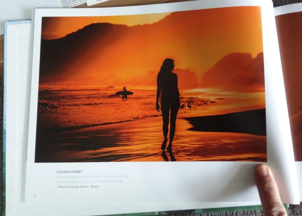 Golden sunset featured in Powerful shots book - gurushots.com