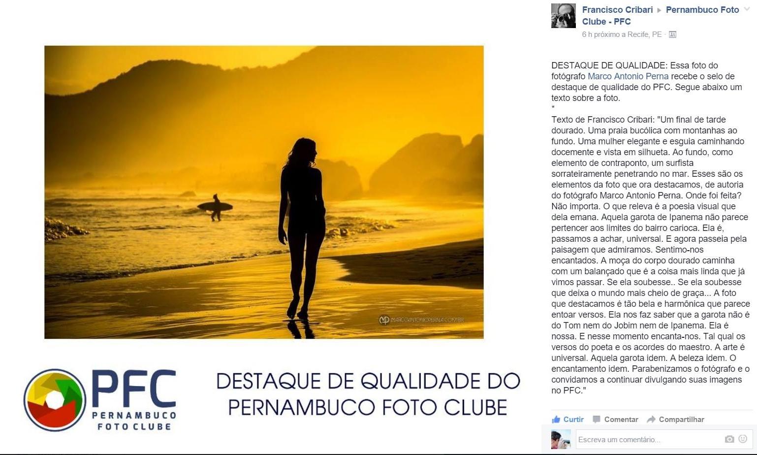 Destaque de Qualidade do Pernambuco Foto Clube