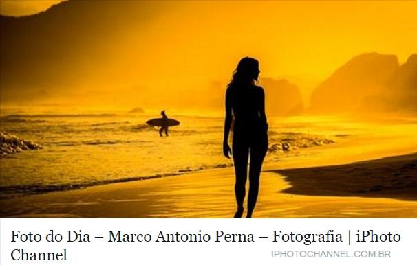 Foto do Dia – Por do Sol no Grumari